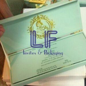 Leather box for invitation