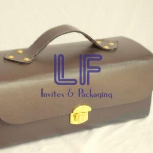 invitation box leather