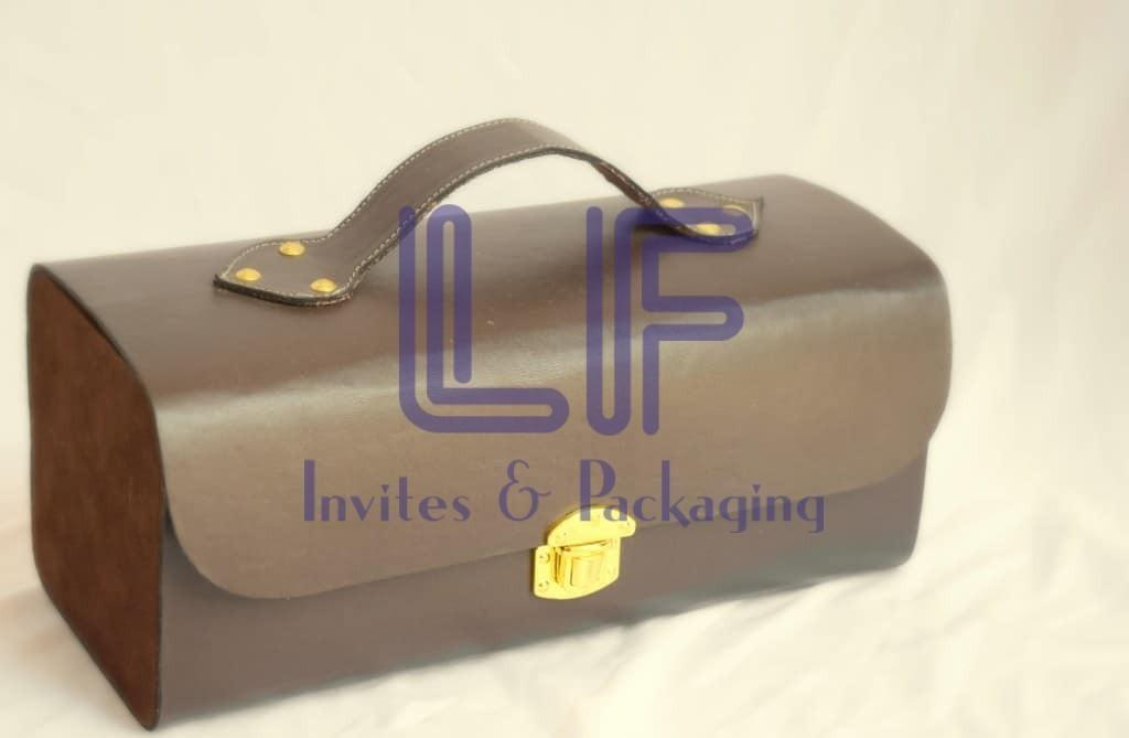 invitation box leather