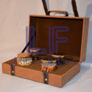 leather invitation box