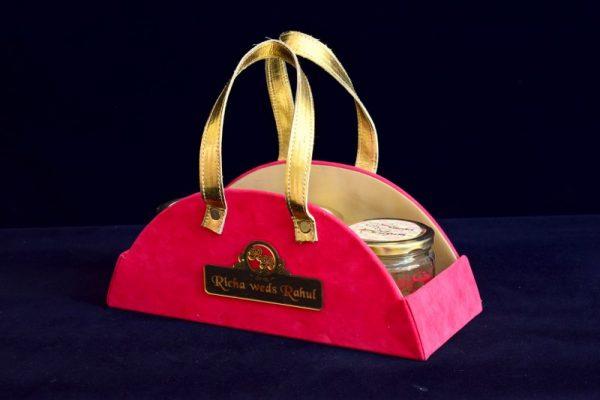Economic wedding invitation box with mason jar