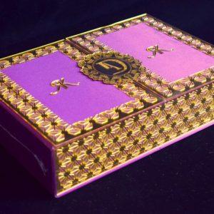 lasercut Acrylic wedding card box & wedding card